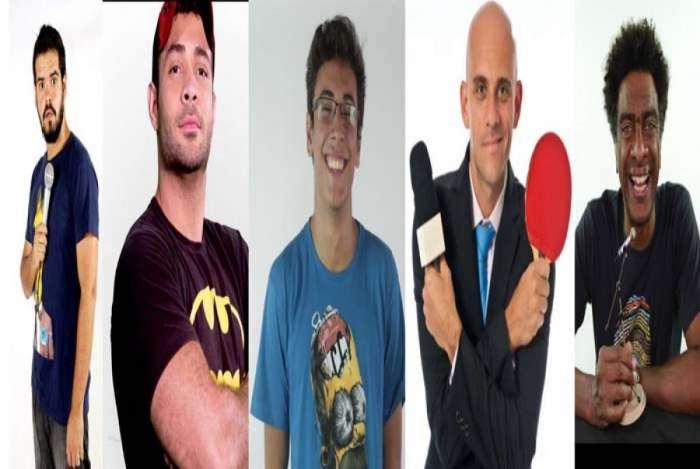 Cézar Maracujá, Daniel Lopes, Hélio de La Peña e Matheus MAD e Marcelo Smigol