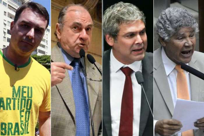 Flávio Bolsonaro, César Maia, Lindberg Farias e Chico Alencar
