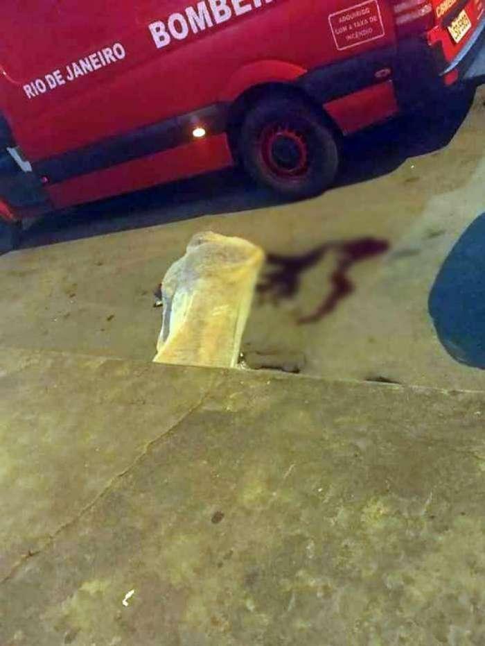 Bandido que foi baleado morreu no local