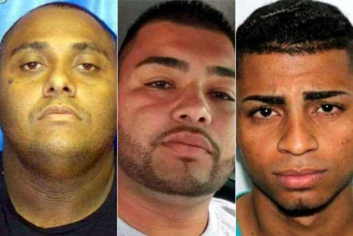 Da esquerda para a direita: Nilton Alves Soares da Silva, Pedro Paulo da Silva Figueiredo e Cirley Thales Fonseca dos Santos