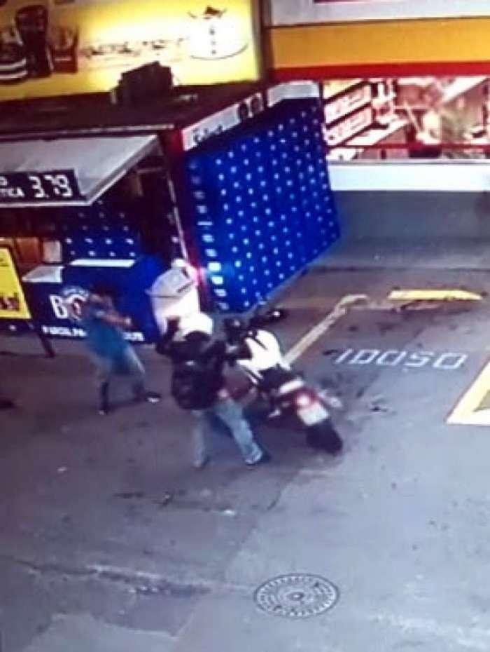 O tiro não acertou a vítima