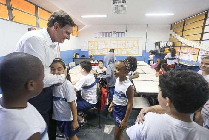 Crivella visita a Escola Municipal Tagore