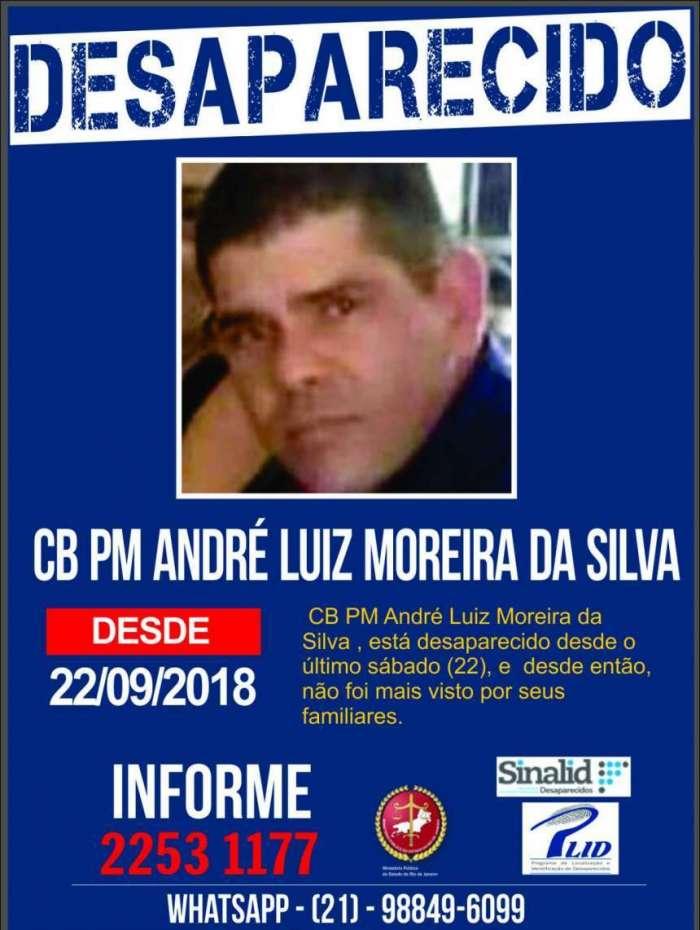 Portal pede informações sobre policial desaparecido