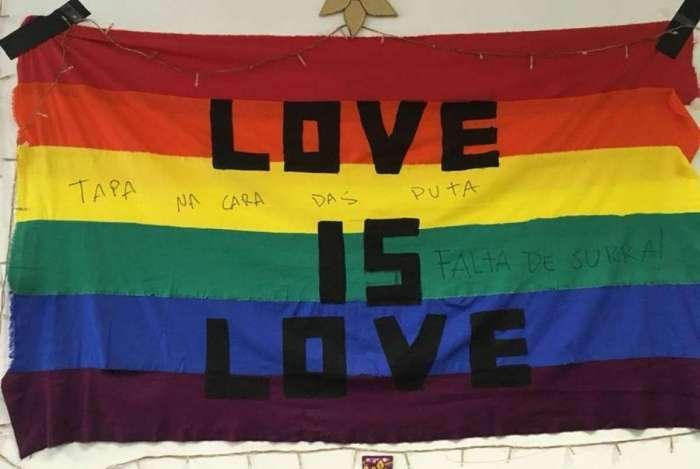 Sala foi encontrada com mensagens de ódio na Fundação Armando Álvares Penteado, em São Paulo