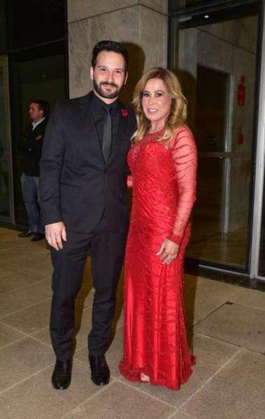 Zilu Camargo com o namorado, Marco Ruggiero