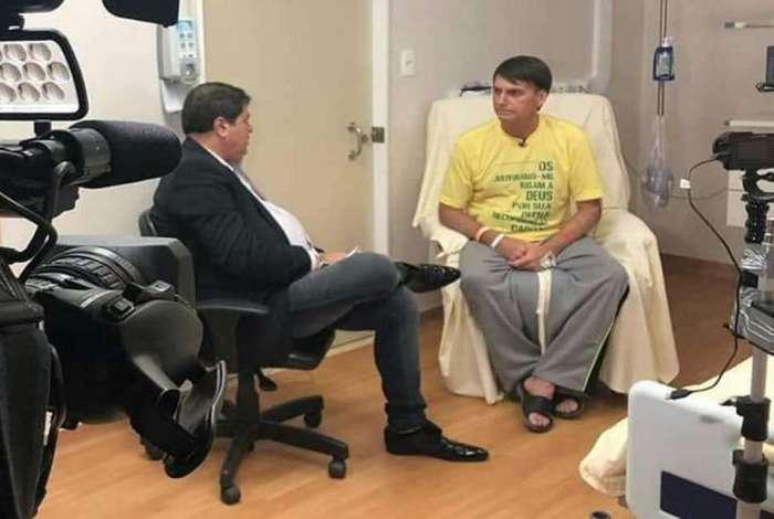 Bolsonaro em entrevista na Band