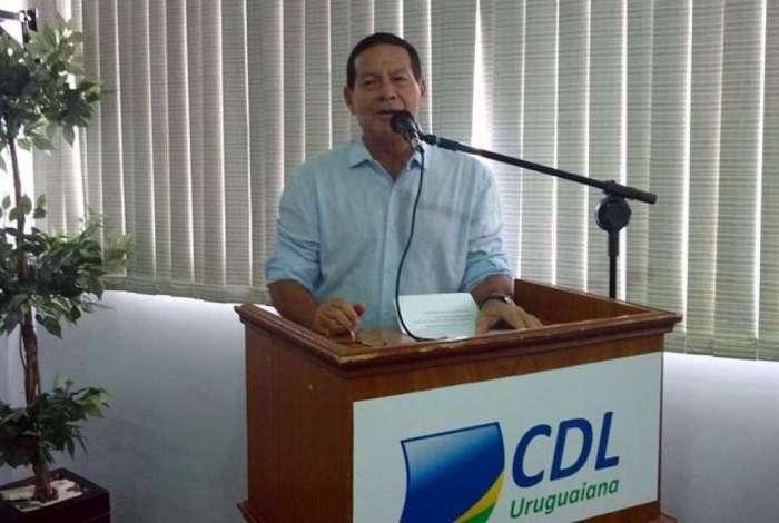 General Mourão deu declarações polêmicas em evento no Rio Grande do Sul
