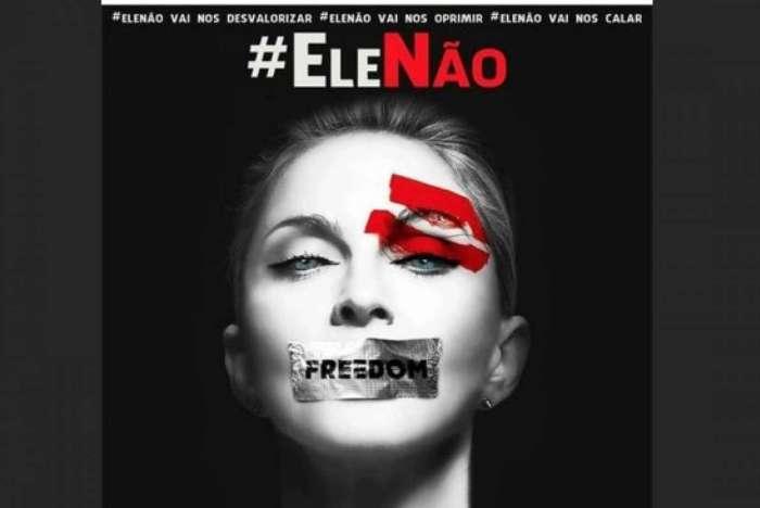Madonna foi uma das que aderiu à campanha #EleNão