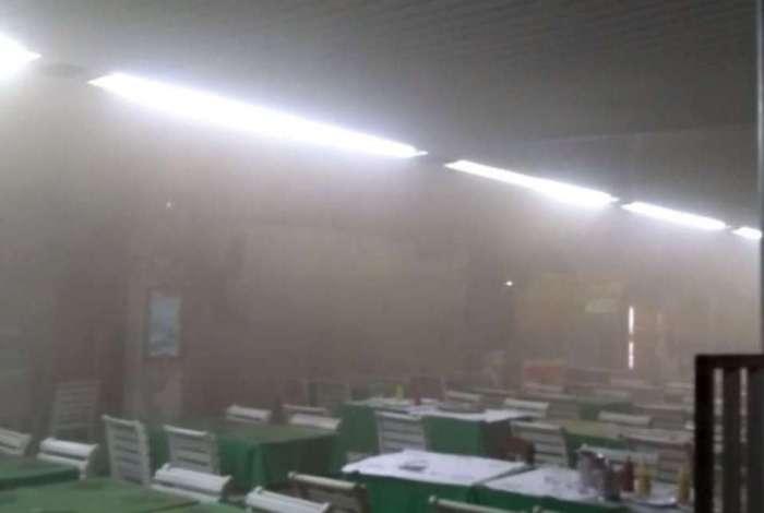 O local ficou com bastante fumaça