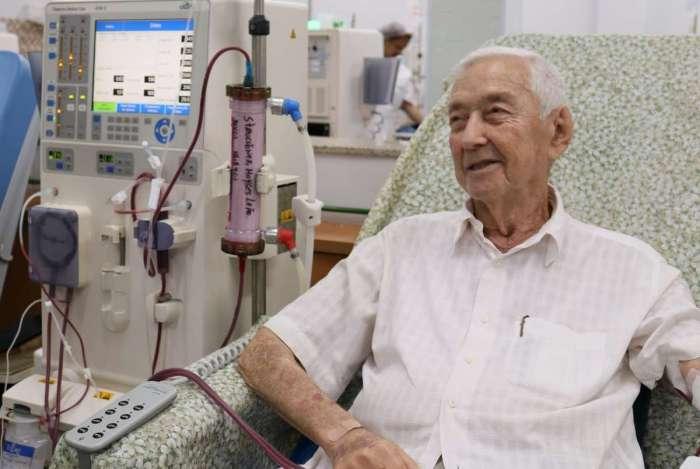 Moyses é um dos pacientes desfrutam de uma qualidade de vida melhor