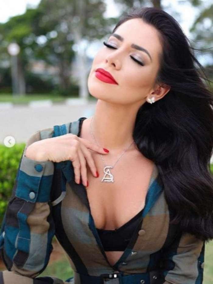 Adriana Sant'anna em campanha publicitária