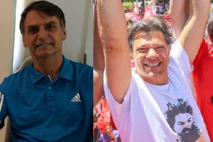 Datafolha: Jair Bolsonaro (PSL) cresce e abre 11 pontos de vantagem sobre Fernando Haddad (PT); os dois têm as maiores taxas de rejeição