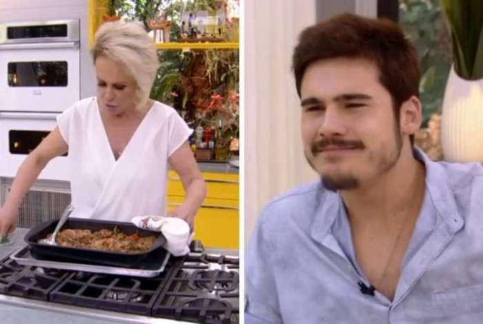Ana Maria Braga causa polêmica ao 'forçar' convidado vegetariano a comer prato com carne
