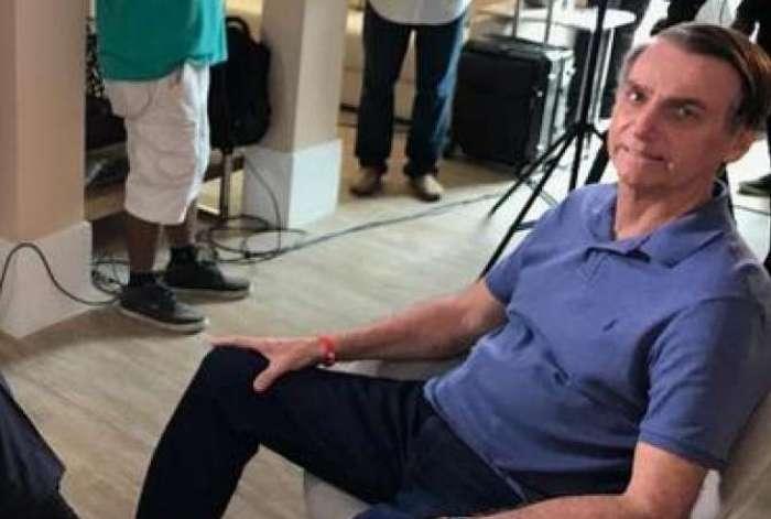 Bolsonaro concedeu entrevista na sua casa