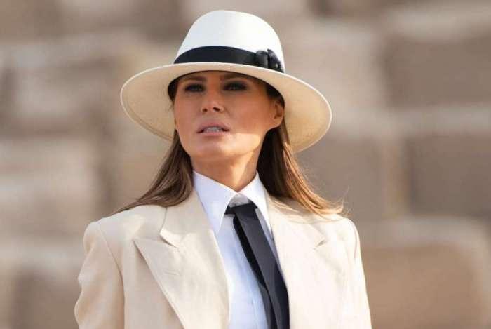 Melania Trump durante visita á África