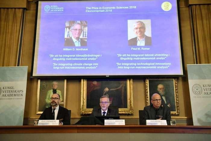 São anunciados os vencedores do Prêmio Nobel de Economia
