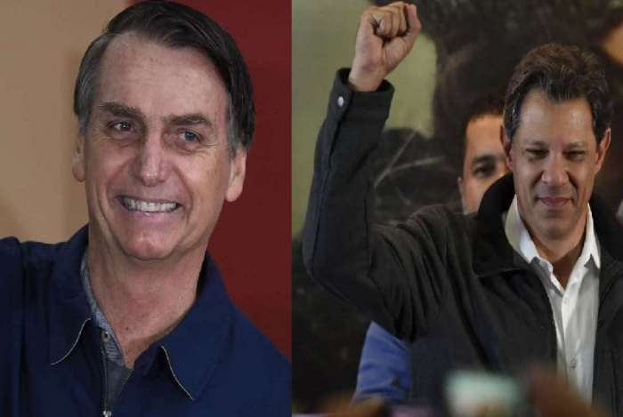Jair Bolsonaro (PSL) e Fernando Haddad (PT) têm as maiores taxas de rejeição registradas nas pesquisas