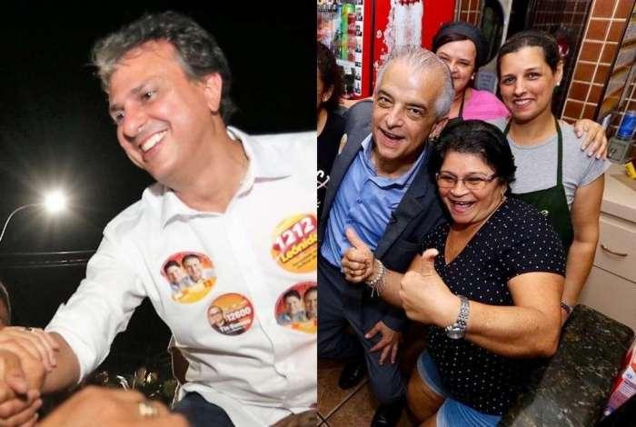 Camilo (esq.) foi eleito com 'folga' no Ceará. Márcio França (dir.) vira no fim e vai pro segundo turno em São Paulo