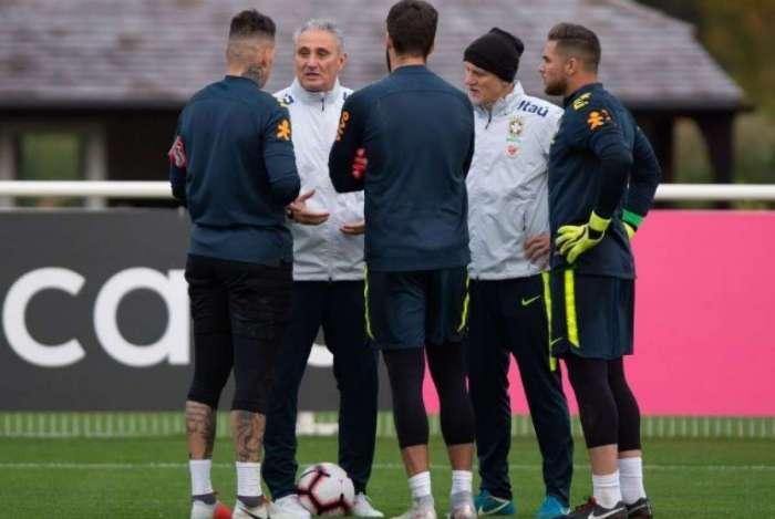 Brasil treinou em Londres