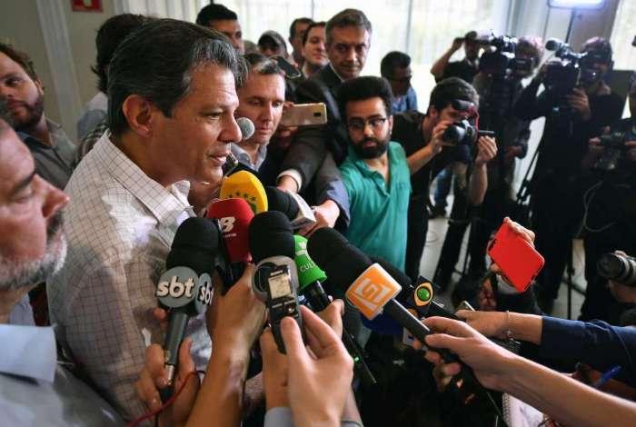 'Eu vou até a uma enfermaria na boa, para fazer o debate', afirmou Haddad
