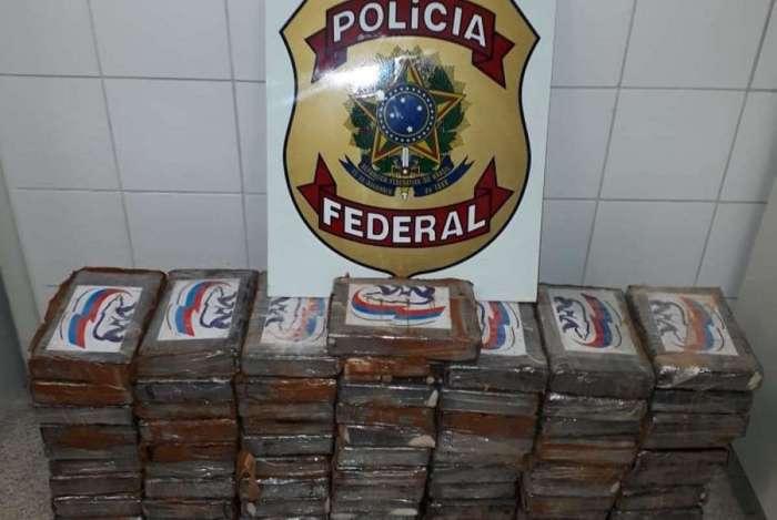 Droga foi apreendida pela Polícia Federal na manhã desta quarta-feira