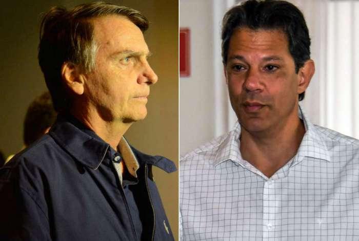 Jair Bolsonaro e Fernando Haddad se enfrentam no segundo turno para Presidência da República
