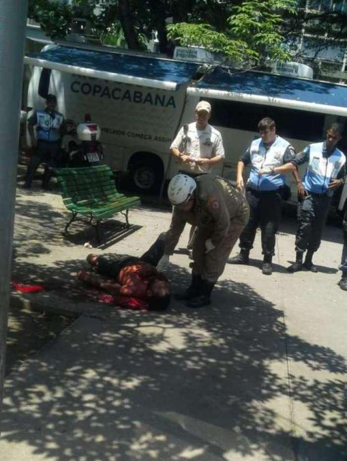 Briga com faca termina em pris�o em Copacabana