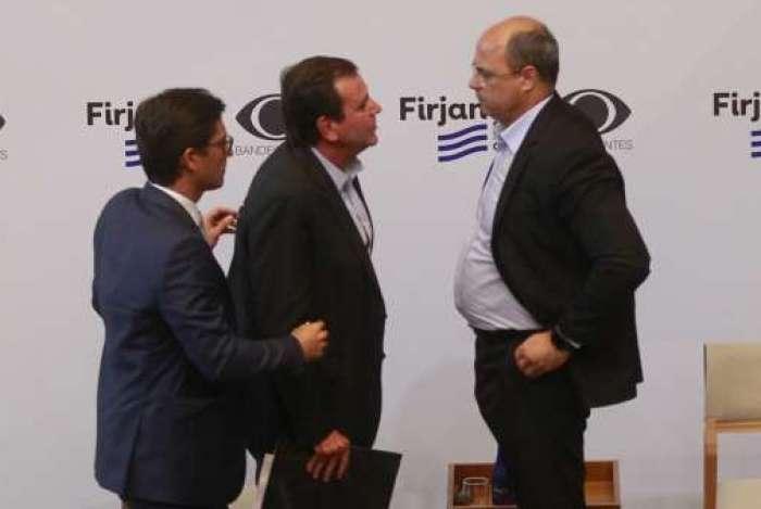 Eduardo Paes (DEM) e Wilson Witzel (PSC) se enfrentam em primeiro debate do segundo turno