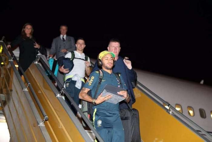 Seleção desembarcou na Arábia