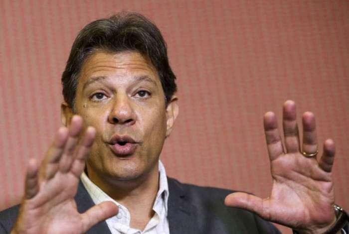 Candidato do PT à Presidência da República, Fernando Haddad