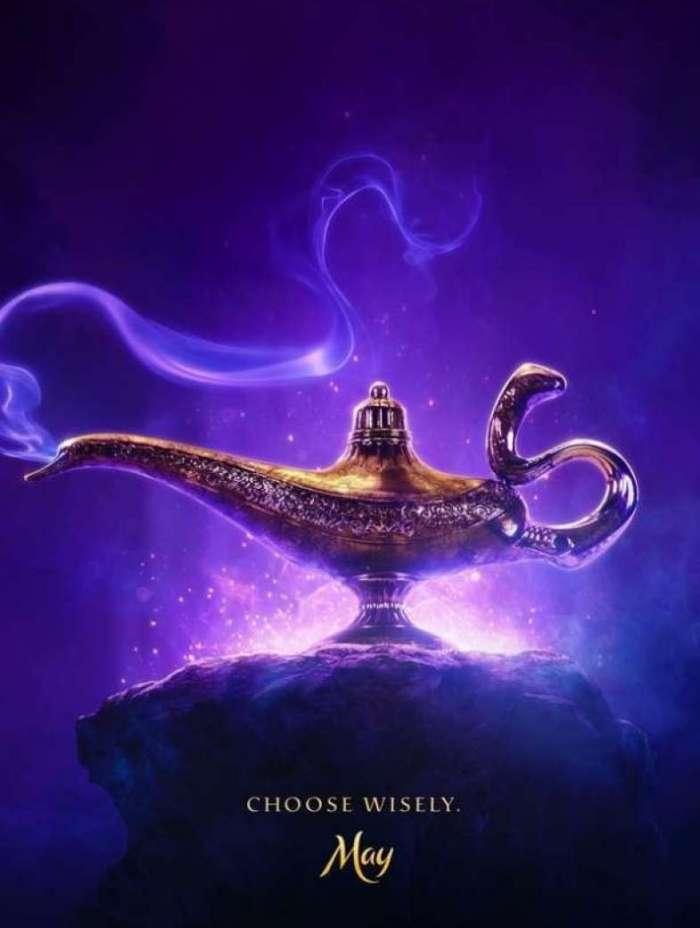 Primeiro pôster da versão live-action de 'Aladdin' é divulgado