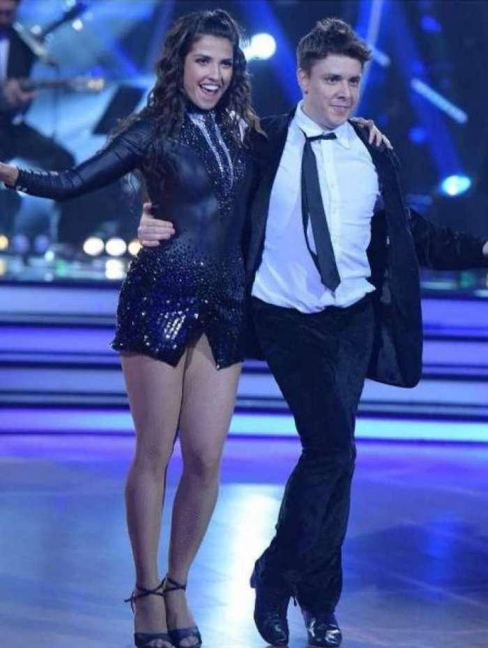 Oscar Filho solta um 'ele não' durante o 'Dancing Brasil'