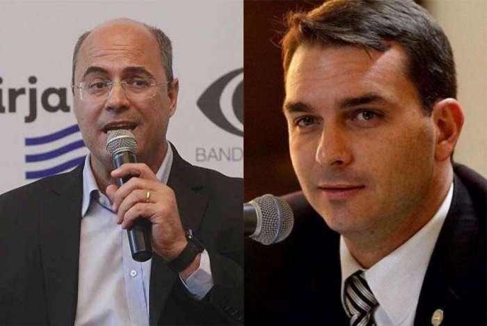 Wilson Witzel e Flávio Bolsonaro