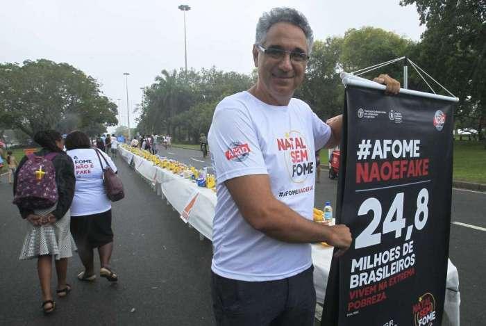 Daniel Souza, filho de Betinho, na abertura da campanha: cobranças ao futuro presidente do país
