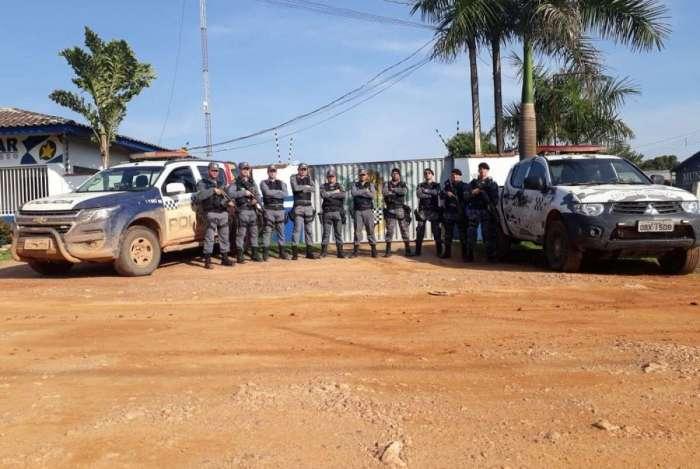 PM realizou perícia no local. Armas usadas pelos funcionários da Funai foram apreendidas e entregues à PF