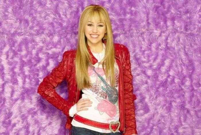 Miley Cirus como 'Hannah Montana'