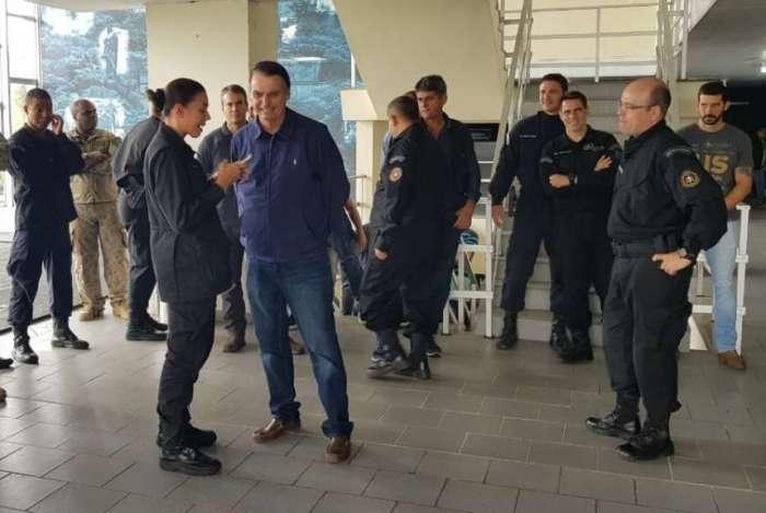 Bolsonaro visitou o Bope na segunda