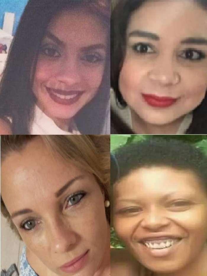 Ellen Bandeira, de 22 anos, Renata Solange de Souza, 35, Renata Basso Beisna, 46, e Sheron Chaves Monteiro, 34 anos, foram assassinadas por maridos e ex-companheiros
