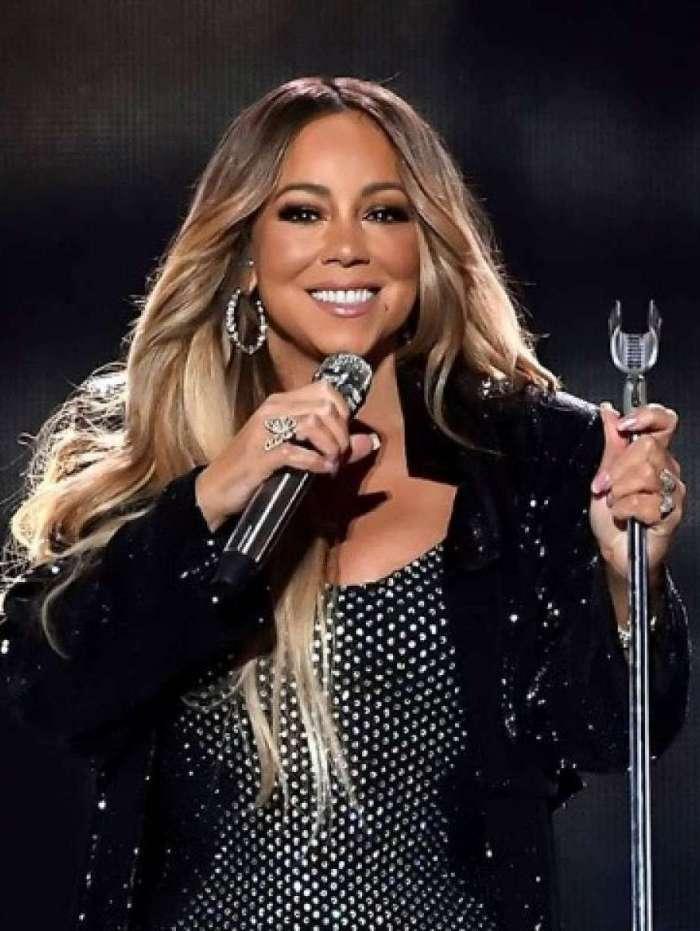Mariah Carey durante antiga turnê
