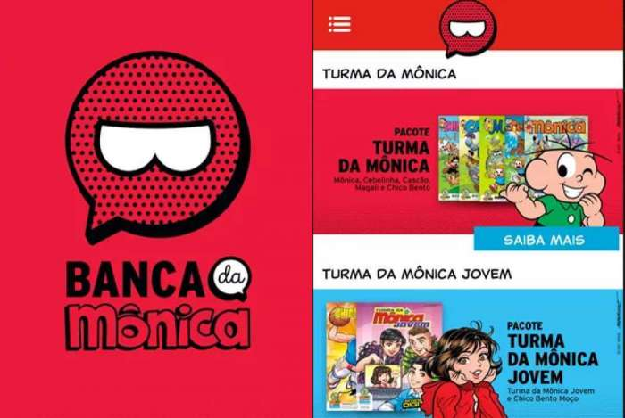 Aplicativo 'Banca da Mônica' permite acessar gibis de forma digital