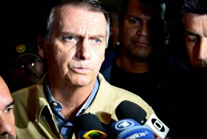 O candidato à presidência da República, Jair Bolsonaro (PSL)