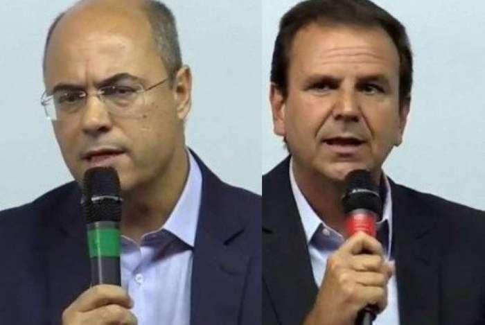 WIlson Witzel (PSC) e Eduardo Paes (DEM)