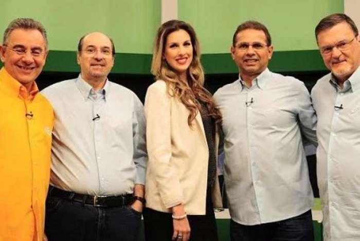 Wanderley Nogueira (segundo da esquerda) deixou a TV Gazeta