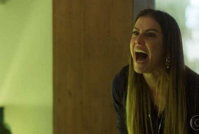 Deborah Secco como a personagem Karola no episódio desta quarta-feira de 'Segundo Sol'