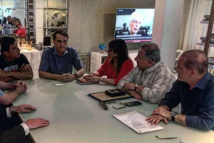 Bolsonaro em reunião com senadores chilenos