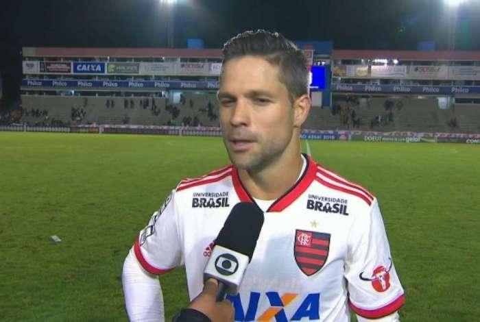 Diego comentou opção de Dorival por deixa-lo no banco contra o Paraná