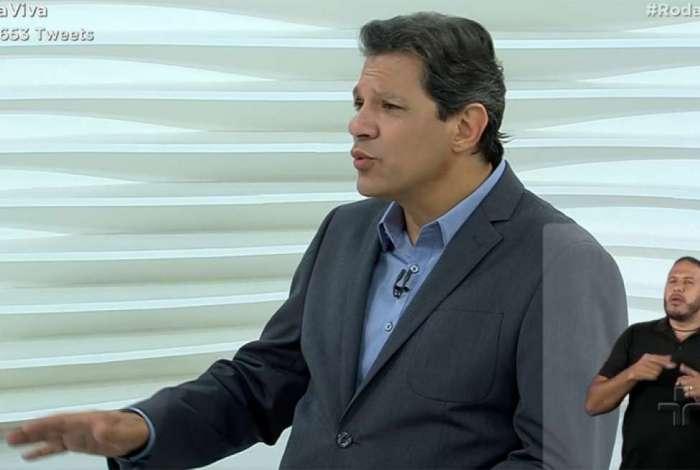 Fernando Haddad é entrevistado no Roda Viva