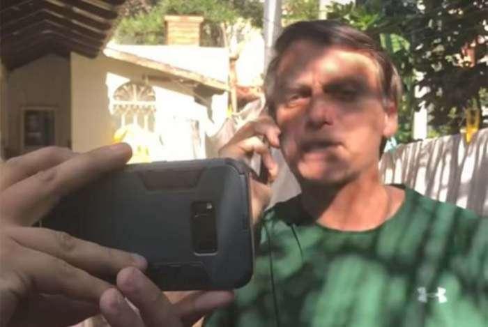 Jair Bolsonaro em vídeo exibido a apoiadores em São Paulo, neste domingo