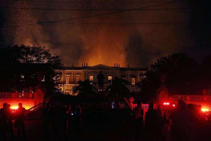 Museu Nacional passou por um incêndio de grandes proporções em setembro de 2018