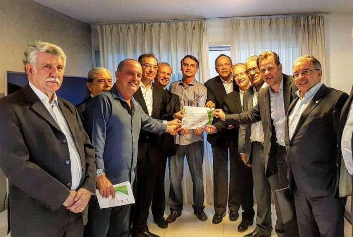 Reunião aconteceu na casa do presidenciável do PSL, no Rio